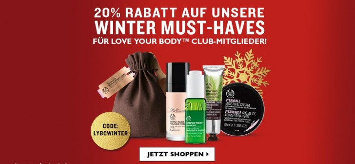 the body shop winter rabatt